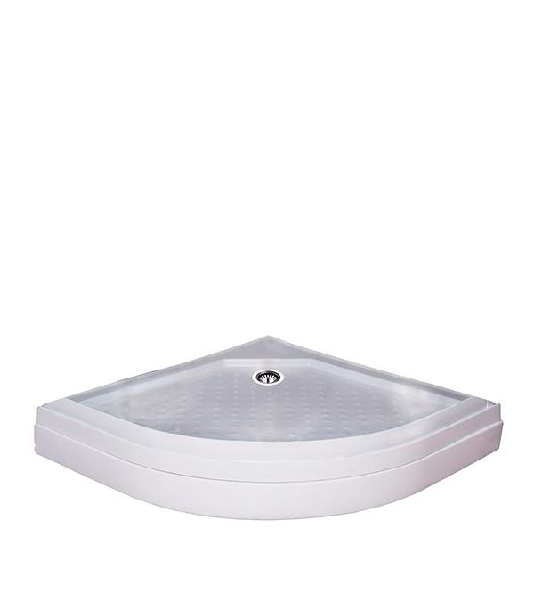 Поддон полукруглый 100х100, низкий беушный ванный поддон киев
