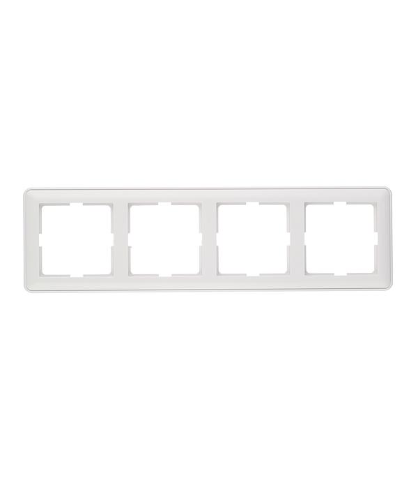 Рамка четырехместная Schneider Electric Wessen 59 белая aliexpress free shipping for epson gs6000 eco solvent cartridge chip decoder work with original chip