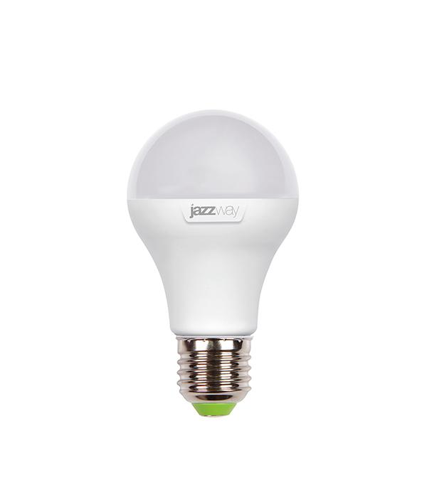 Лампа светодиодная E27,  8W, A60 (груша), 3000K (теплый свет), Jazzway