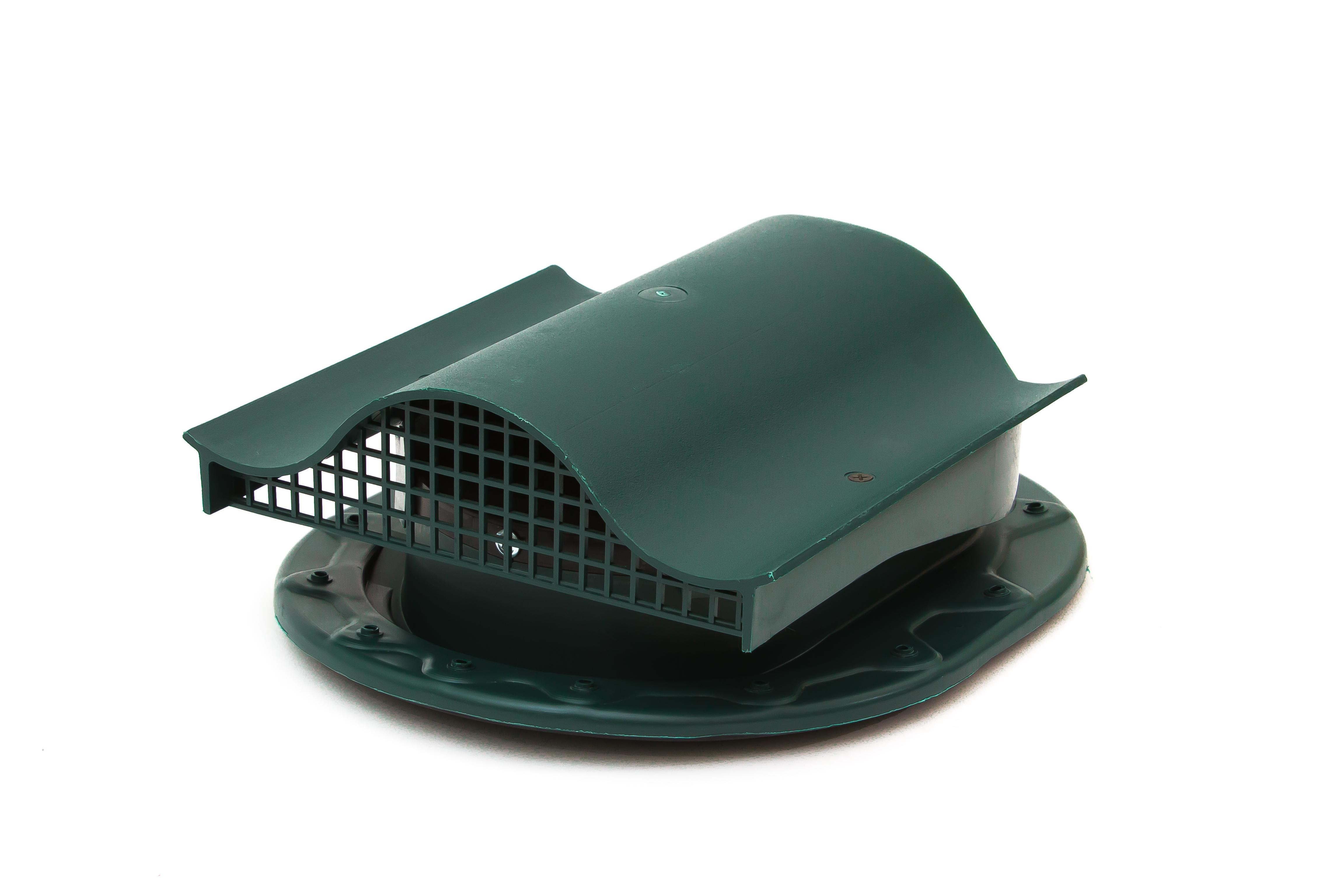 Аэратор Поливент-КТВ-вентиль для готовой кровли из битумной черепицы зеленый