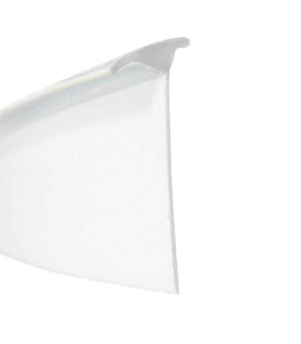 Уплотнитель пластиковый универсальный гибкий 35х12х3200 мм белый