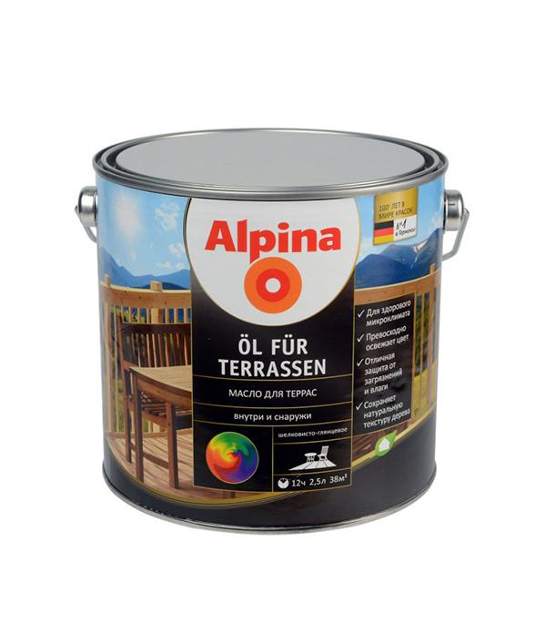 Масло для террас Alpina Oel fuer Terrassen 2,5 л