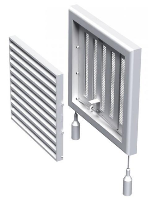 Решетка вентиляционная пластиковая 154х154 мм регулируемая Вентс