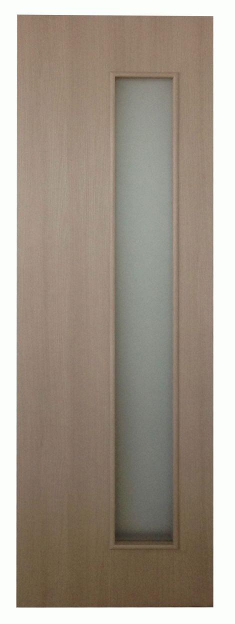 Дверное полотно  экошпон ДПО Smart Капучино  720х2010 мм, с притвором со стеклом