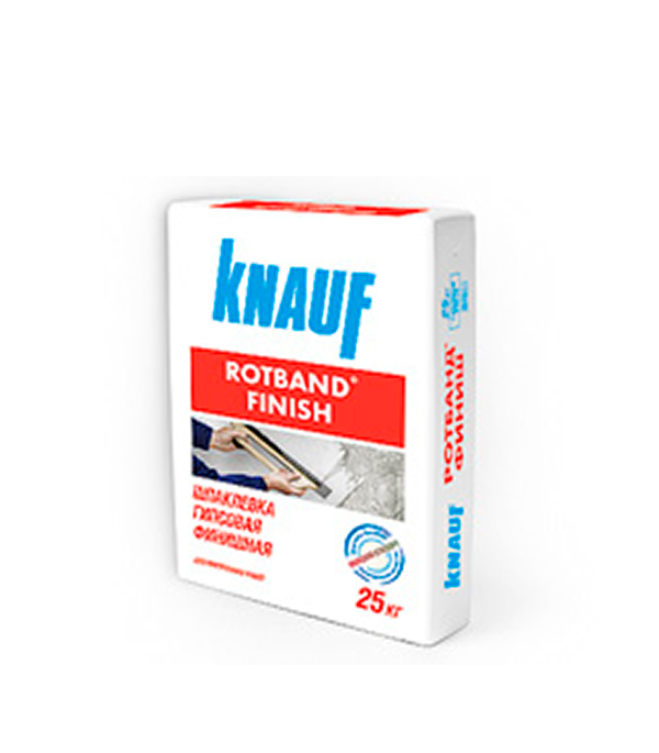Шпаклевка гипсовая финиш Knauf Ротбанд 25 кг галька морская бежевая фракция 5 10 мм 1 кг