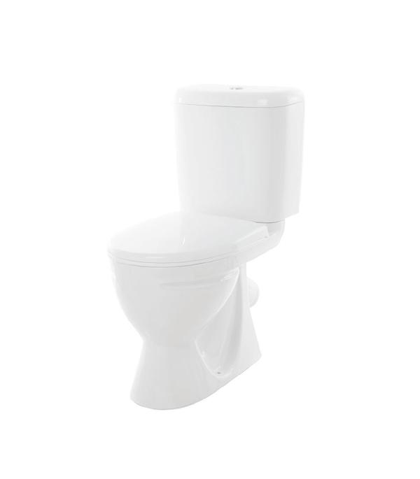 Унитаз-компакт Sanita Стандарт с косым выпуском сиденье с микролифтом sanita стандарт 1 реж белый
