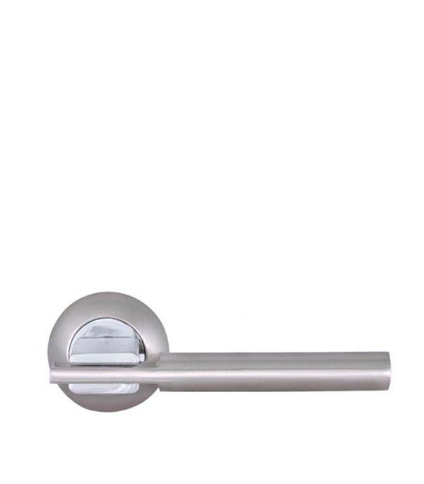 Дверная ручка Palladium City A Rio SN/CP матовый никель/хром ручка дверная rucetti 14 s sn cp никель сатиновый хром
