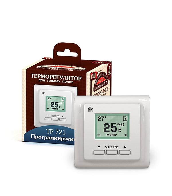 Терморегулятор ТР 721 программируемый белый, Национальный комфорт