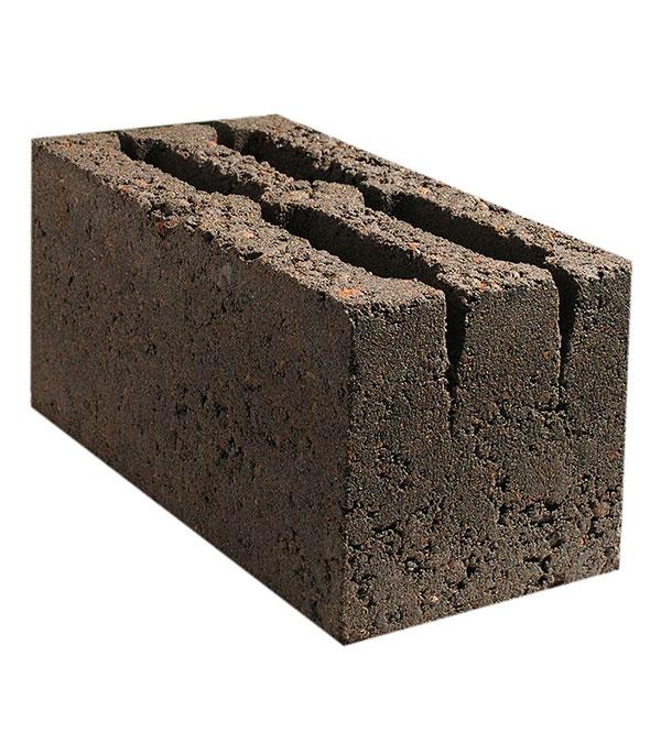 Керамзитобетонный блок пустотелый СКЦ 390х190х188 мм форма для блоков для возведения стен купить москва