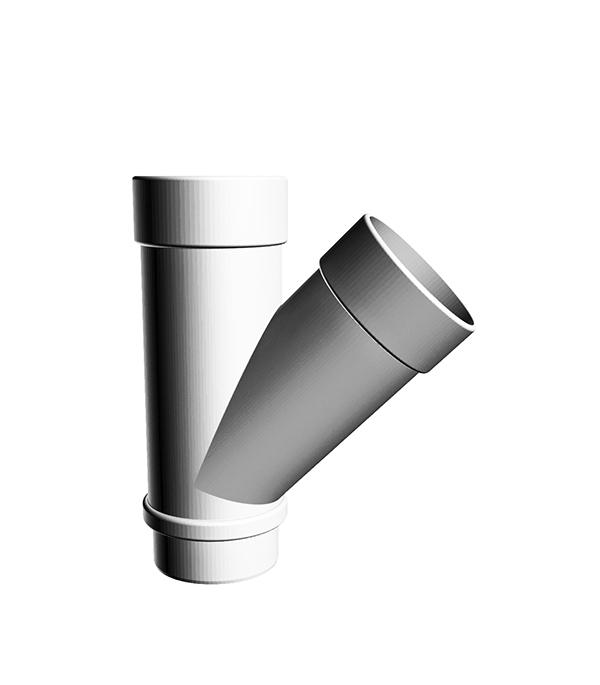 Тройник трубы пластиковый 45° пломбир, DOCKE LUX заглушка желоба пластиковая универсальная пломбир docke lux