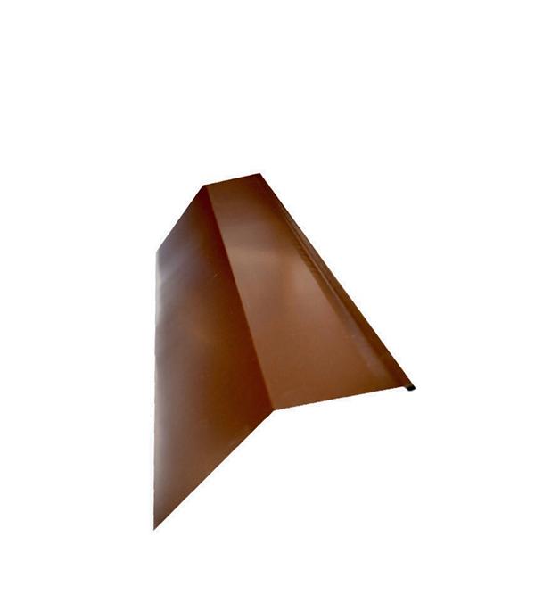 Планка карнизная для металлочерепицы 80х100 мм, 2 м красное вино RAL 3005
