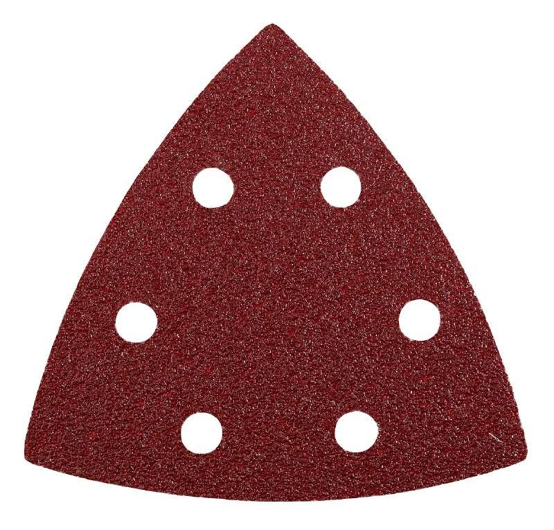 Шлифлист треугольный для МФУ 6 шт P80, KWB Стандарт