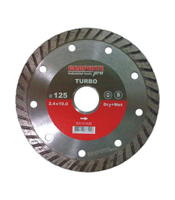 Диск алмазный турбо 115х22,2 мм Graphite Pro Стандарт