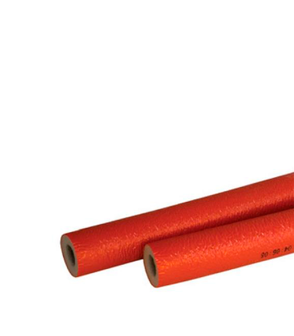 Теплоизоляция для труб 22х4 мм красная (бухта 11 м)