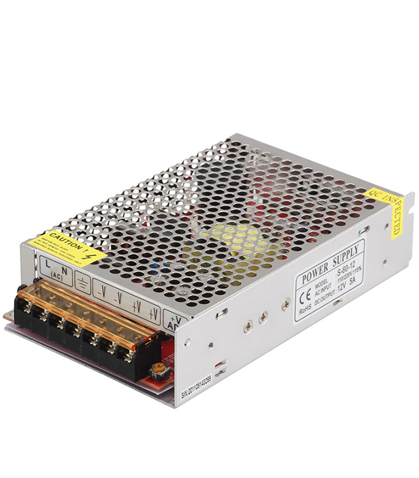 Драйвер светодиодный  60 Вт, 220В/12В, IP20, Jazzway