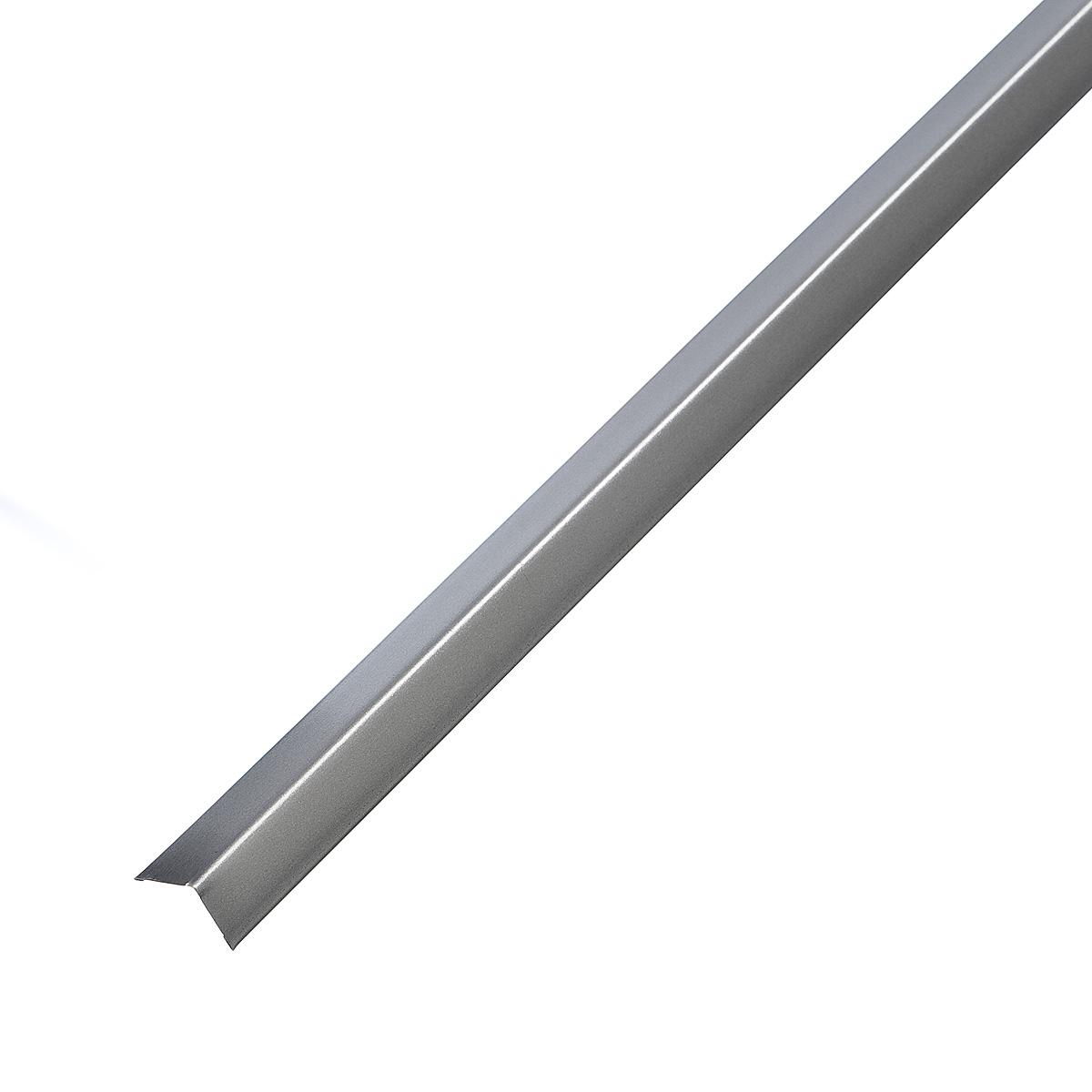 Профиль угловой универсальный PL 19х24х3000 мм серебристый металлик