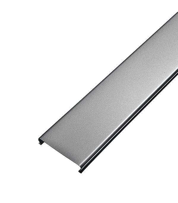 Рейка сплошная Омега А 100АТ 3 м серебристый металлик