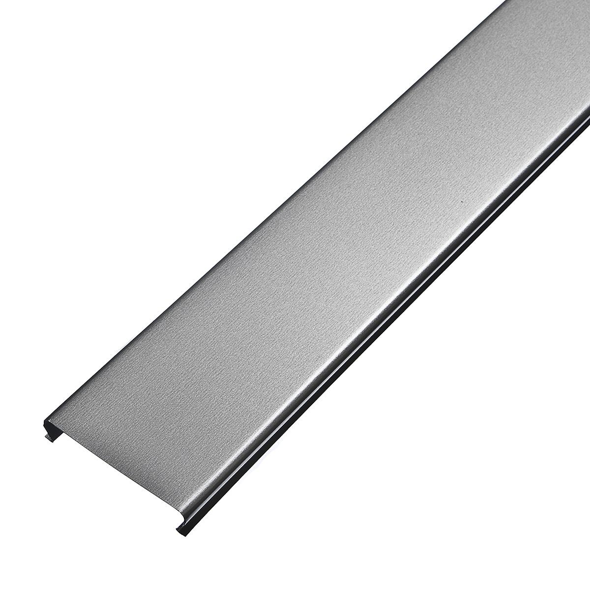 Рейка сплошная Омега А 100АТ 4м серебристый металлик