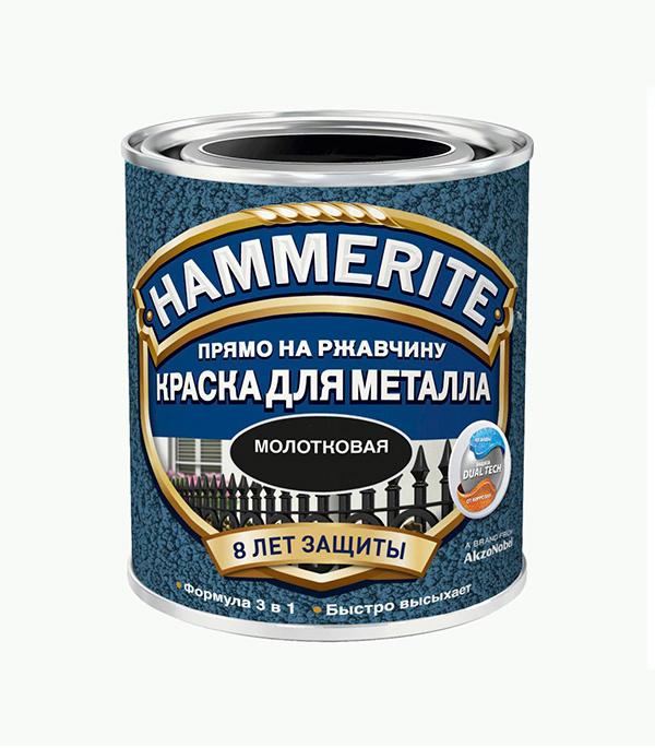 Грунт-эмаль по ржавчине 3 в1  Hammerite молотковая серебристо-серая 750 мл