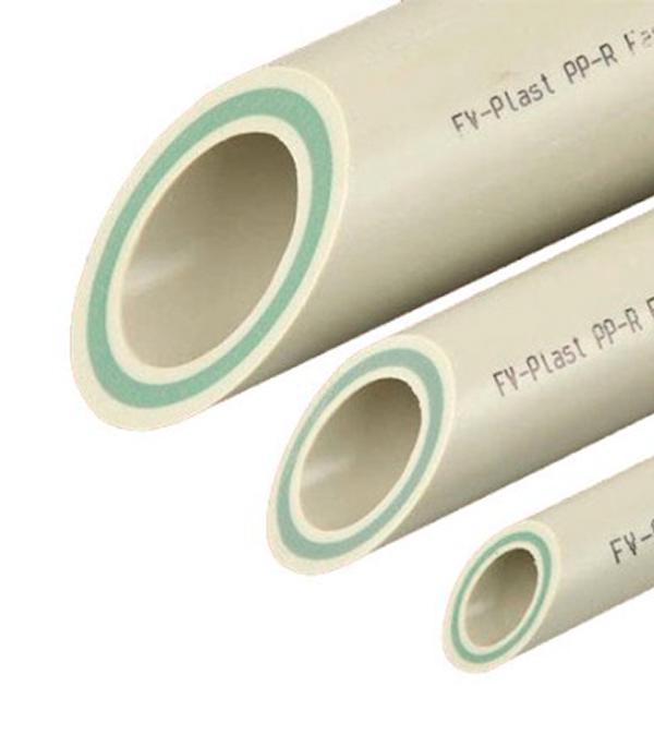 Труба полипропиленовая, армированная стекловолокном 32х2000 мм, PN 20 FV-PLAST серая  труба полипропиленовая 25х2000 мм pn 20 серая