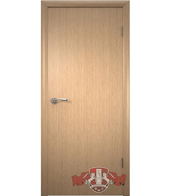Дверное полотно Соло шпонированное светлый дуб ПГ 700х2000 мм