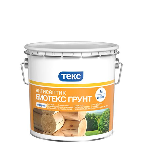 Антисептик Текс Биотекс грунт 3 л северные срубы и дома