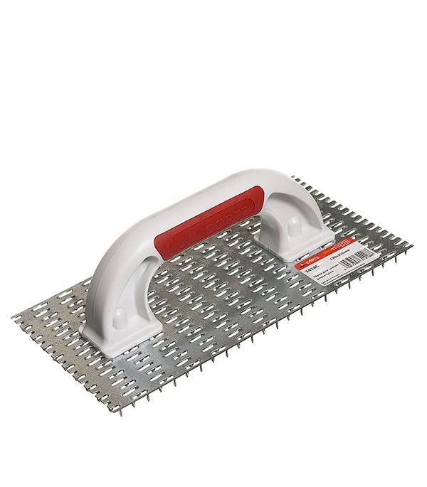 Терка пластиковая 250х130мм с металлическим покрытием Corte  шлифовальная терка рашпиль corte 0344
