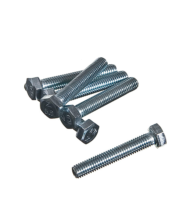 Болты оцинкованные  М5х30 мм DIN 933 (80 шт)