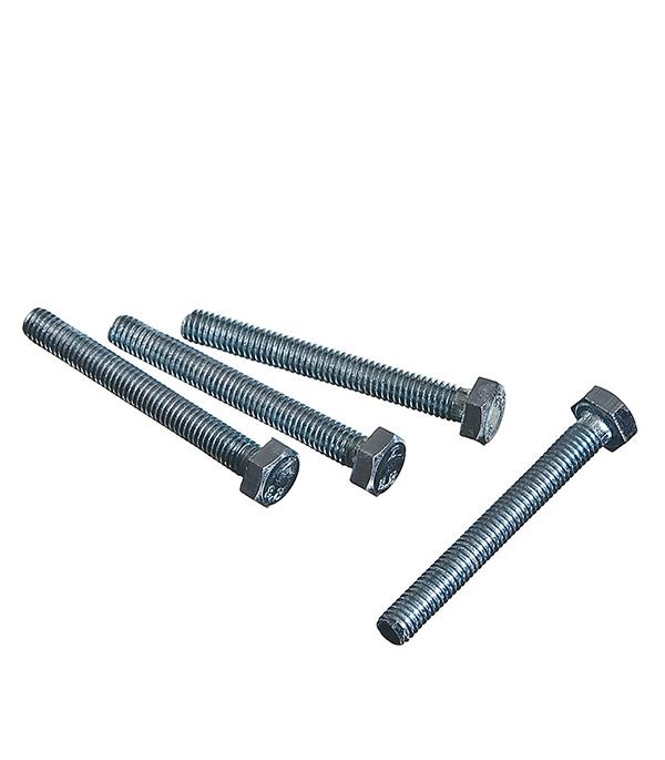 Болты оцинкованные  М6х50 мм DIN 933 (40 шт)