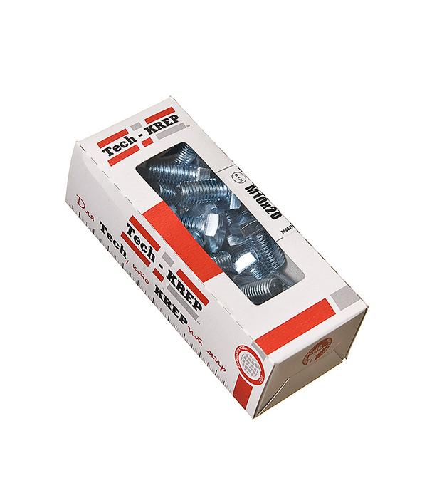 Болты оцинкованные М10х20 мм DIN 933 (25 шт)  болты оцинкованные м20х80 мм din 933 5 шт