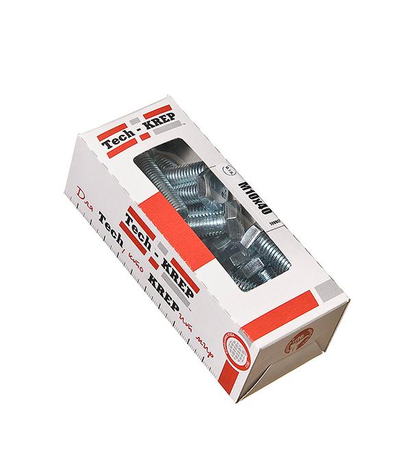 Болты оцинкованные М10х40 мм DIN 933 (15 шт)  болты оцинкованные м12х80 мм din 933 10 шт