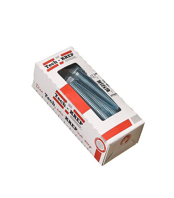 Болты оцинкованные М12х70 мм DIN 933 (10 шт)