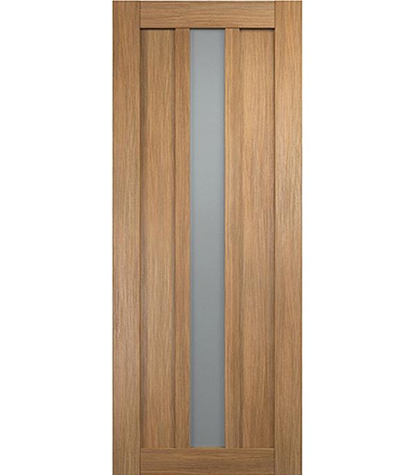 Дверное полотно экошпон Интери 3-1 Золотой дуб со стеклом 700х2000 мм без притвора арка межкомнатная симплекс рено малая мдф набор без отделки