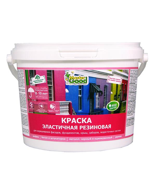 Краска Резиновая (эластичная) зелёная Master Good 2,4 кг