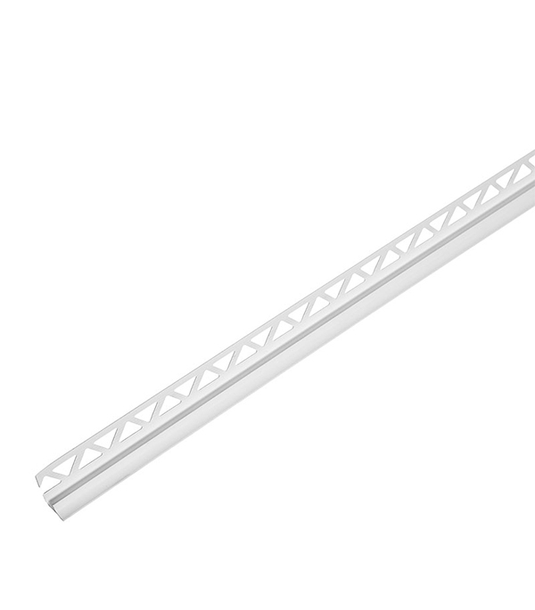 Уголок для кафельной плитки внутренний 7 мм 2,5м белый