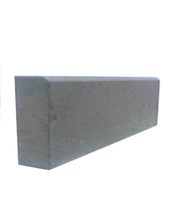 Бордюр тротуарный вибролитьевой 500х210х65 мм серый