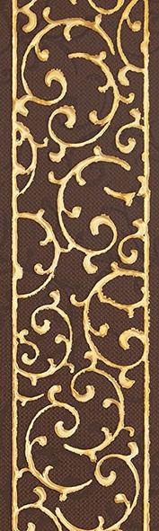 Плитка бордюр 250х75х8 мм  Анастасия орнамент шоколад
