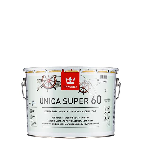 Яхтный лак Tikkurila Unica Super основа EP полуглянцевый 9 л  лак яхтный unica super основа ep полуматовый тиккурила 9 л