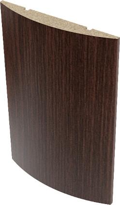 Наличник экошпон полукруглый Верда Венге 10х70 мм