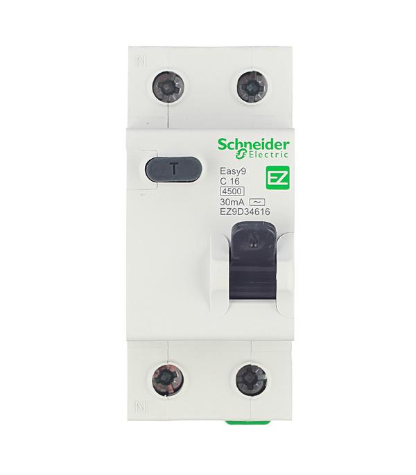 Дифференциальный автомат Schneider Electric Easy9 1P+N 16А тип C 30 мА 4.5 kA SE EZ9D34616 дифференциальный автомат 1p n 16а тип c 30 ма 4 5 ka abb dsh941r