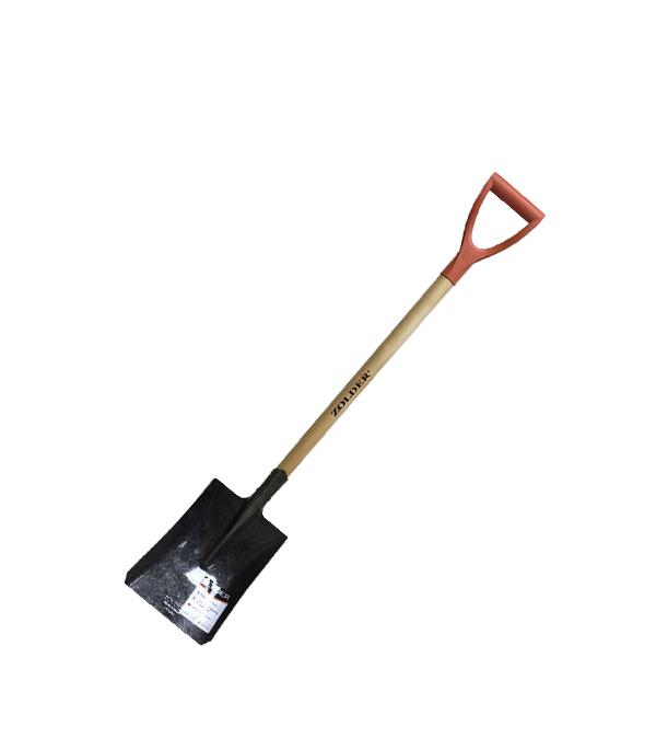 Лопата совковая прямоугольная с черенком 115 см V-ручка Zolder лопата центроинструмент молодость моя с лак черенком 128 см