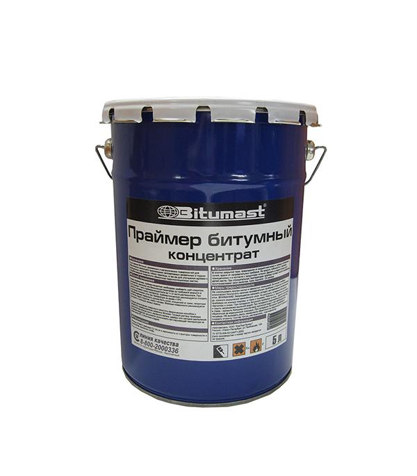 Праймер битумный концентрат Bitumast 4.2 кг/5 л гидроизоляция акриловая bitumast 20 кг