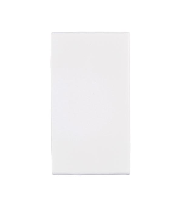 Заглушка Viva для кабель-канала ДКС 1 модуль белая  розетка телефонная для кабель канала дкс белая 1 модуль viva