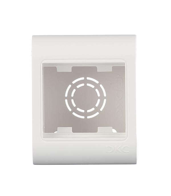 Коробка монтажная для кабель-каналов ДКС, 2 модуля белая, Viva