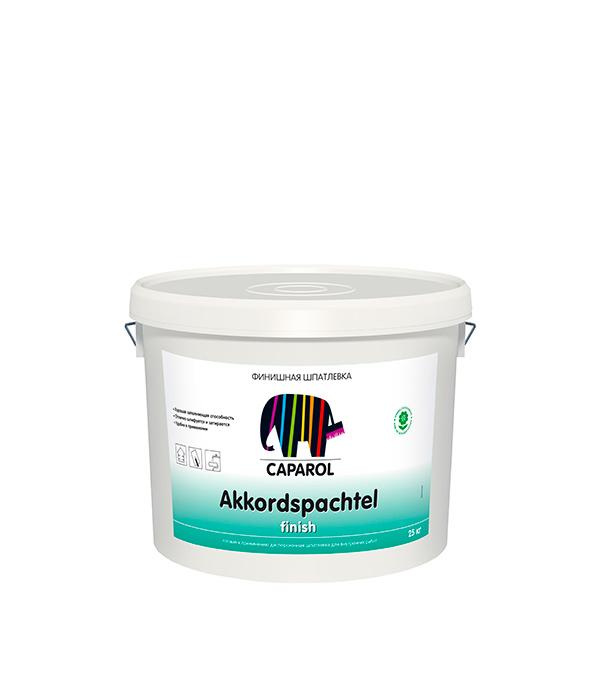 Шпатлевка финишная Caparol Akkordspachtel дисперсионная 25 кг шпатлевка финишная maxi dulux 10 л