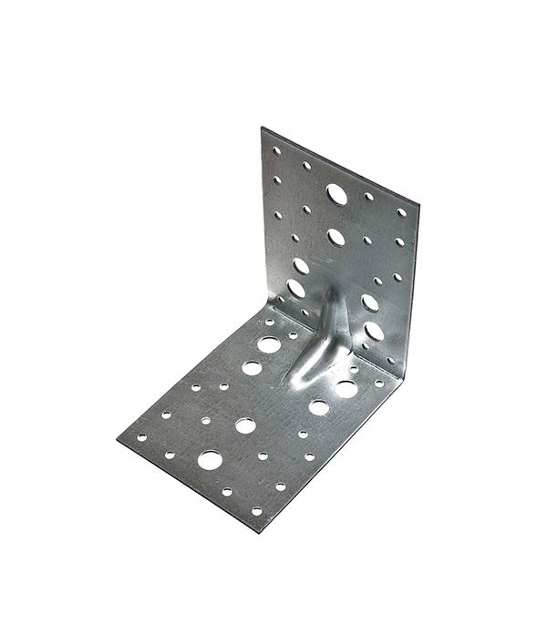 Уголок крепежный усиленный оцинкованный 130х130х100х2 мм