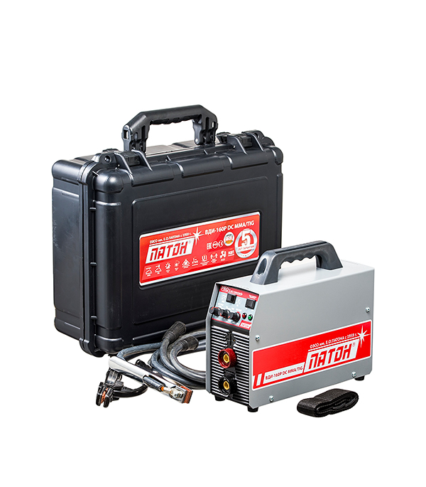 Сварочный аппарат (инвертор) ПАТОН BДИ-160Р, 220В 160 А, ПВ 70%, до 4,0 мм