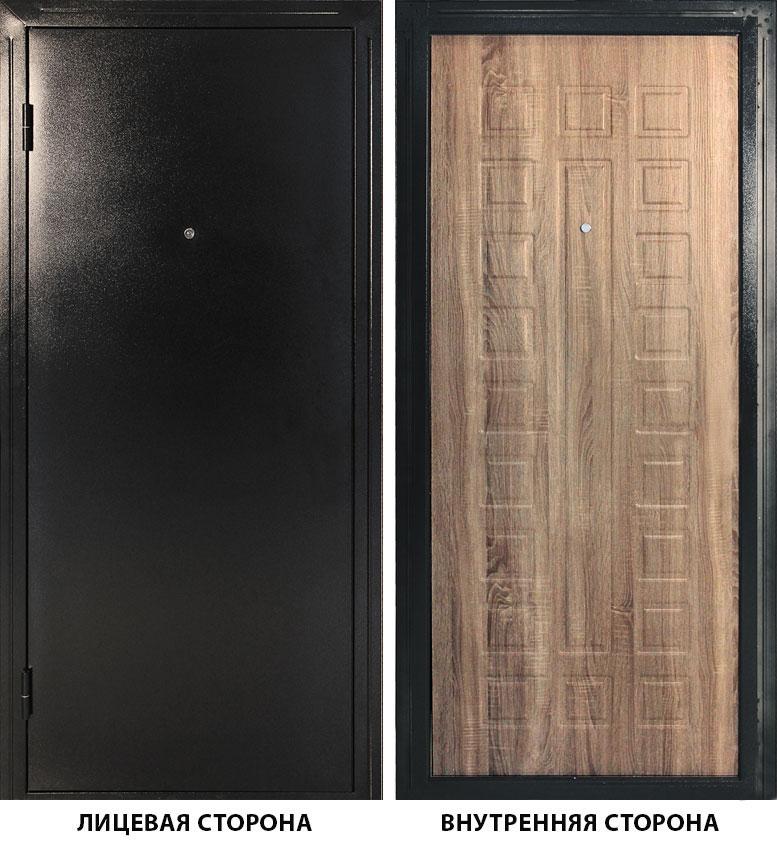 Дверь металлическая ДК Оптима 960x2050 мм левая, без цилиндра и ручки