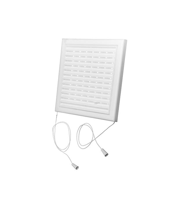 Решетка вентиляционная пластиковая 186х186 мм регулируемая Вентс