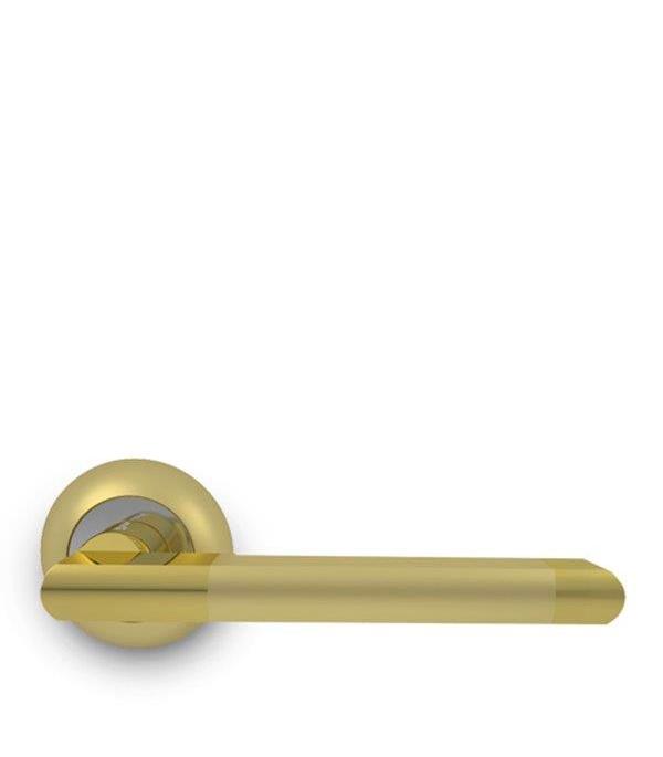 Дверная ручка Palladium Inizio SG/GP золото замок врезной palladium зв al 1853 gp золото